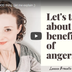 Anger is a GOOD thing...let me explain ;)